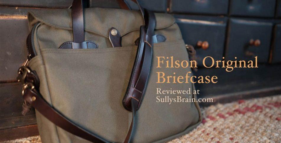 A Man And His Bag Review Of The Filson Original Briefcase